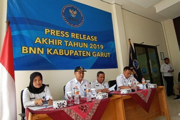 Press Release Akhir Tahun Badan Narkotika Nasional Kabupaten Garut TA. 2019