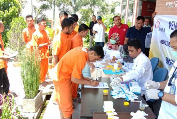 Sosialisasi P4GN dan screening test urine Pegawai di lingkungan Kerja PT.JAPFA Comfeed Indonesia Tbk