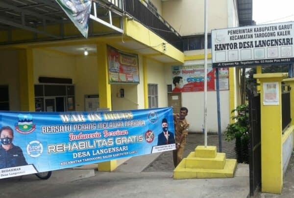 "Desa Bersinar Kabupaten Garut menyuarakan kampanye ""War On Drugs"""