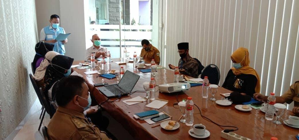BNNK Garut Gelar Rapat Koordinasi Pelaksanaan Program Ketahanan Keluarga Anti Narkoba TA. 2021